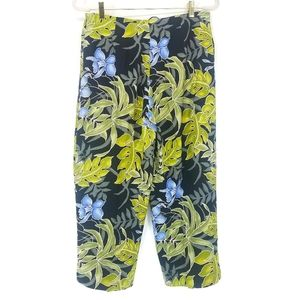 Tommy Bahama Green Tropical Silk Crop Pant